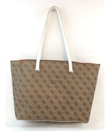 GUESS Women's Audrey Light Brown/White Quattro G Tote Shopper Handbag - $47.21