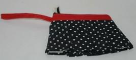 GANZ Brand ER16753 Black White Polka Dot Skirt Coin Purse Fabric Flower image 2