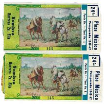 Lot of 2 Vtg PLAZA de TOROS MEXICO CITY Bullring TICKET STUBS 1946-47 1s... - $19.79