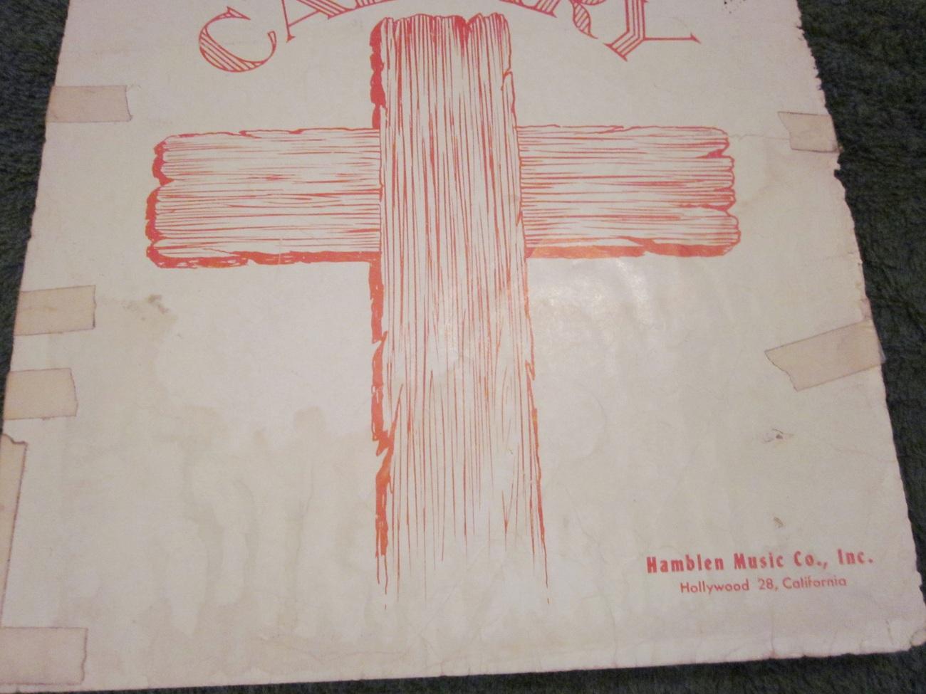 sheet Music He Bought My Soul At Calvary by Stuart Hamblen 1950