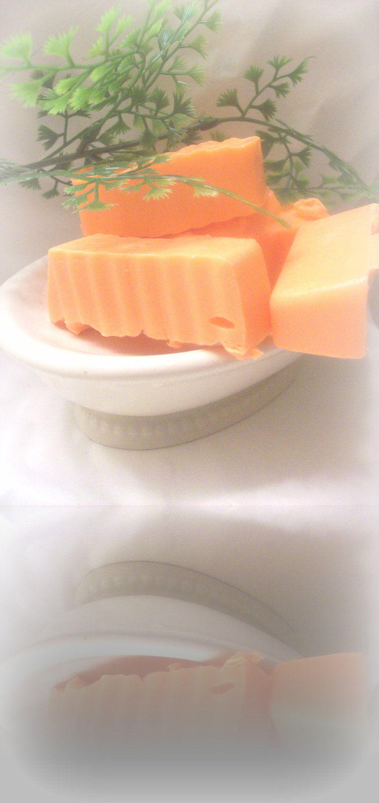 Warm orange gingerbread soap samples