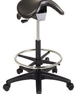 Ergonomic High Saddle Seat Chair w/Footring -Medical Dental Backless Vin... - $137.99