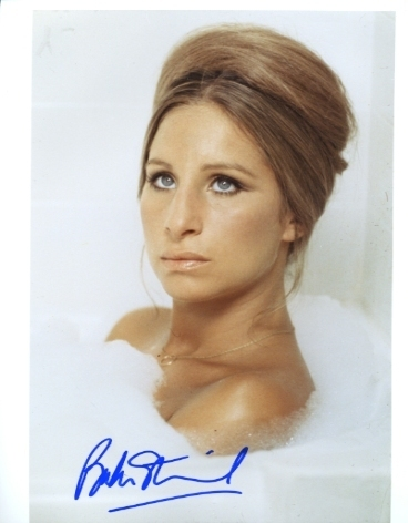 Barbra Streisand hand signed autographed photo in Bubble Bath