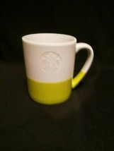 2014 Starbucks White Green Two Tone with Mermaid Logo Coffee Cup 4in Mug... - $15.99