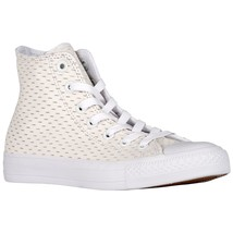 Converse All Star Leather High White Out Pack White/Gold 153115C Mens Shoe - $69.95