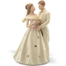 Lenox Bride & Groom Figurine Wedding Cake Topper Hearts Gown Shower Gift... - $98.01