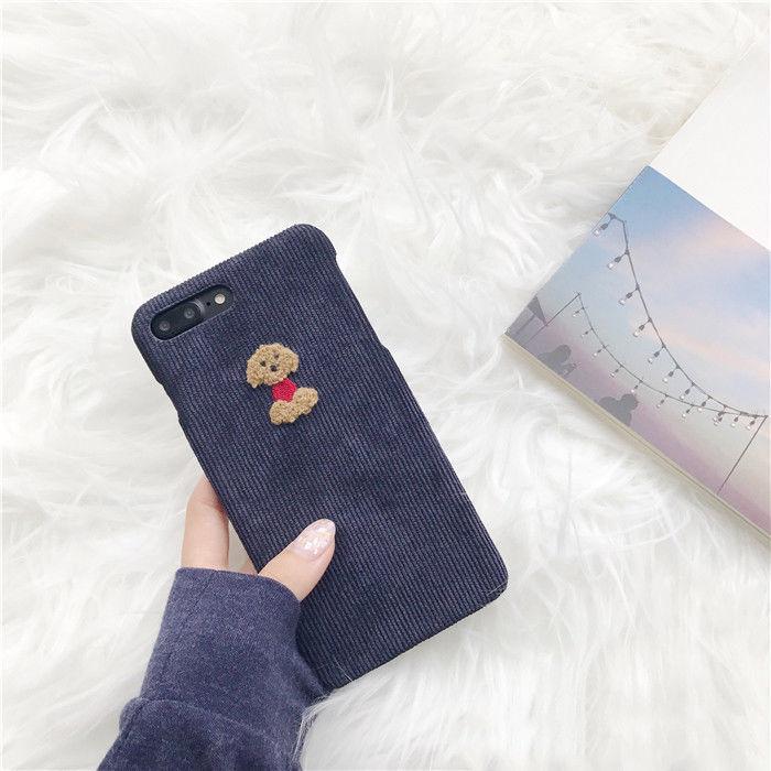 3D Cute Cartoon Soft Cloth Fabric Phone Case For iPhone 6 6S 7 8 Plus X Cover