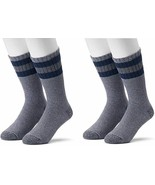 Croft & Barrow Cotton Blend Boot Socks Cold Weather Comfort 2 Pair Charc... - $12.00