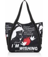 Disney Snow White and Apple Diaper Bag Big Balloon Tote Black Japan w/ T... - $60.78