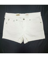 AG Adriano Goldschmied The Hailey Roll Up White Denim Jean Shorts Women'... - $26.96