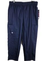 Sivvan Women's Scrubs Drawstring Cargo Pants Navy, Size 2XL - $19.79