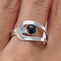 Black Onyx 925 Sterling Silver Band Ring Fine Ring Handmade Jewelry mi4534 - $11.99
