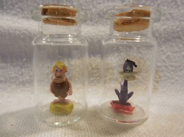 Flintstones Miniature Clay Figures in Bottles - Barney Rubble & Dino Fli... - $21.95