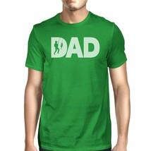 Dad Fish Mens Green Graphic Design Tee Unique Fishing Dad T Shirt - $18.05