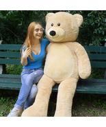 WOWMAX Light Brown Teddy Bear Big Giant Large Huge Stuffed Plush Animal ... - $89.99
