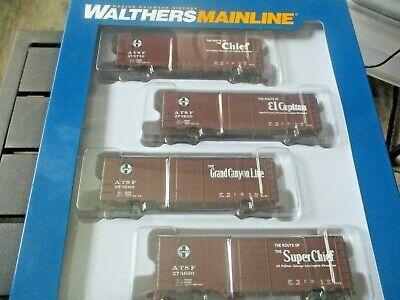 Walthers  Mainline # 910-51402 Santa Fe Slogan PS-1 40' Boxcars (4-PK)  HO-Scale