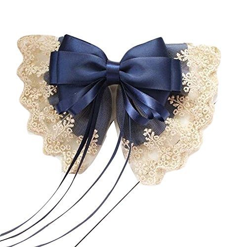 Bowknot Barrette Hair Clip Handmade Lace Hair Barrette French Barrette Type