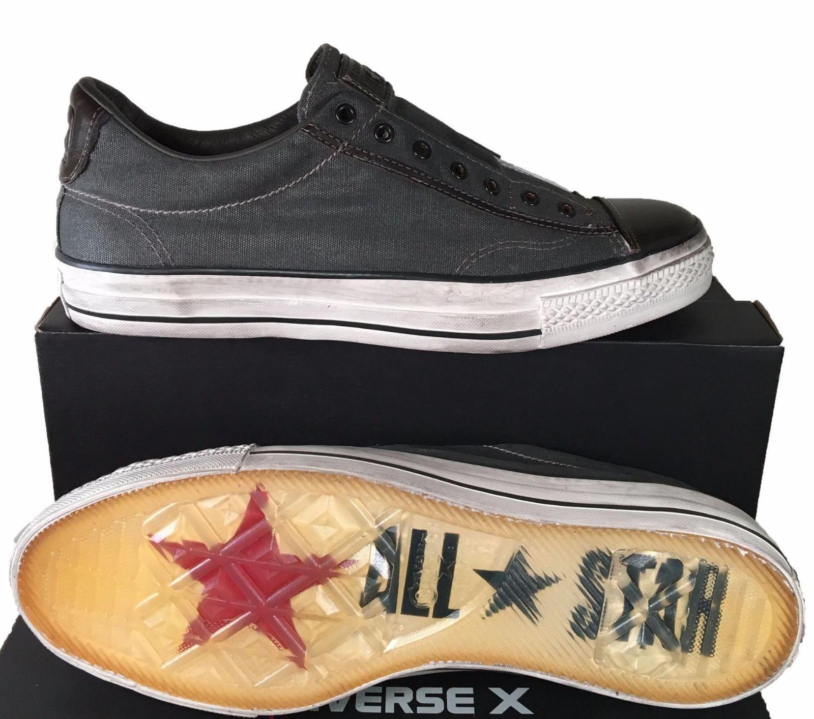 a0023f67b29f Converse John Varvatos Vintage Canvas Chuck Taylor Slip on Sneaker GRAY  150183C