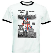 UNITED KINGDOM OXFORD - NEW BLACK RINGER COTTON TSHIRT - $19.53