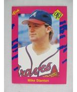 Mike Stanton Atlanta Braves 1990 Classic Baseball Card T 45 - $0.98
