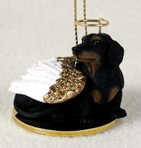 DACHSHUND (BLACK TAN)  ANGEL DOG CHRISTMAS ORNAMENT HOLIDAY Figurine - $12.98