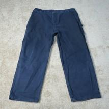 Carhartt Canvas Work Pants Mens 40x32 Blue Dungaree Fit Duck B11 MDT Wor... - $24.95