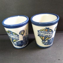 Louisville Stoneware 2 Hot Air Balloon tumblers Mint Julip Cup Set IAPES  - $38.61