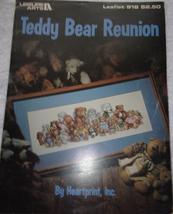 Leisure Arts Leaflet 918 Teddy Bear Reunion By Heartrint Inc 1990 - $3.99