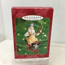 2000 Hallmark Toymaker Santa #1 Christmas Tree Ornament MIB w Price Tag H2 - $18.32