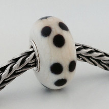 Authentic Trollbeads Murano Glass Retired Brown Dot Bead Charm 61146, New - $18.99