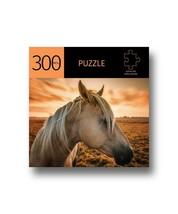 "Horse w Sunset Design Jigsaw Puzzle 300 pc Durable Fit Pieces 11"" x 16"" Leisure"