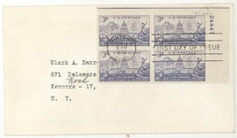 1951 Scott 1001 Colorado Statehood Plate Block First Day Cover! FDC - $3.99