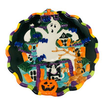 """JCPENNEY HOME Halloween GHOST Haunted House Dimensional 9"""" Plate - $14.82"""