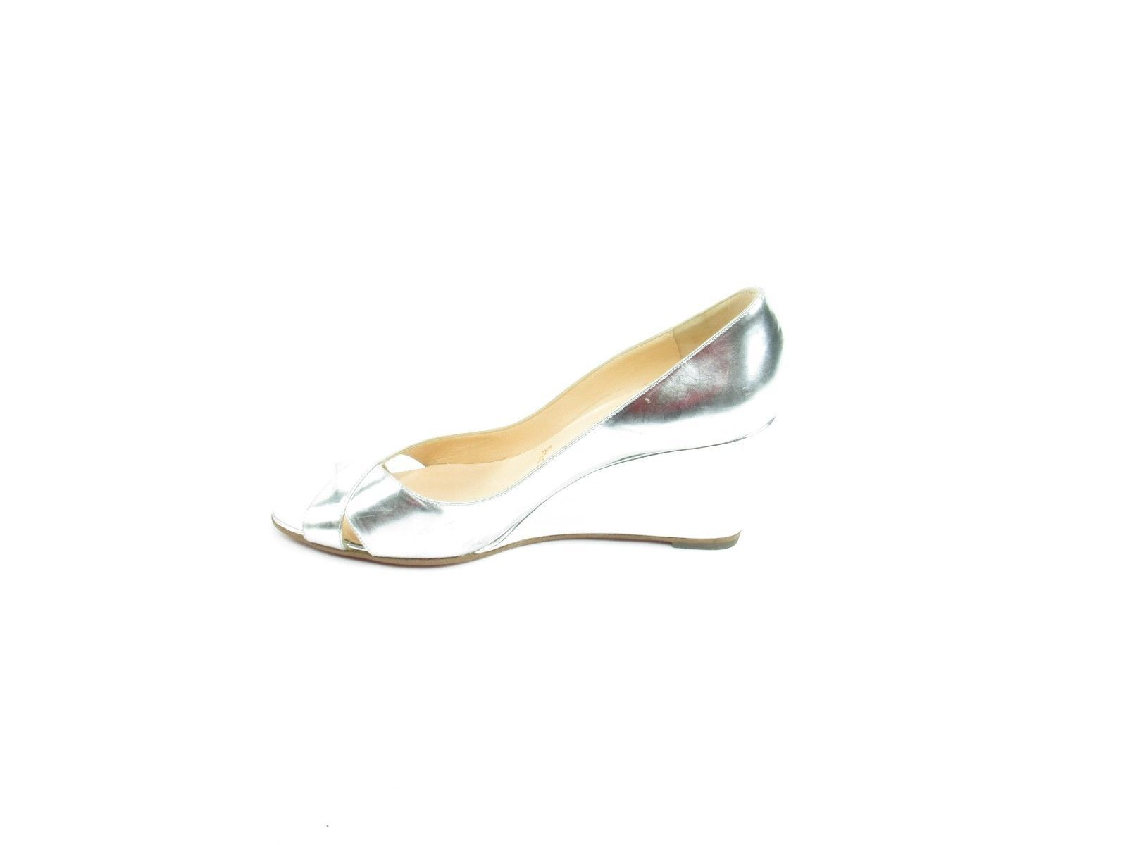 845106204e6f Christian Louboutin Wedge Sole Silver Pumps and 50 similar items. S l1600