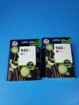 GENUINE HP 940XL Ink Cartridge 2-Pack for Officejet pro 8000 8500 magenta, cyan - $16.23