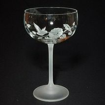4 (Four) AVON HUMMINGBIRD Etched Crystal Champagne/ Tall Sherbet Glasses France image 3