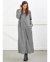 Women's Gray Oversized Cozy Lounger Robe Wrap Soft Warm Fleece Choose Size - ₨2,171.88 INR