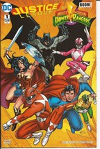 DC Comic Block Exclusive Justice League Mighty Morphin Power Rangers #1 ... - $24.95