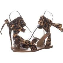 Steve Madden Reputation Wrap Up Sandals 702, Leopard, 8 US - $24.95