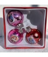 Disney Princesses Bell Glass Ball Christmas 3 Piece Ornament Set from th... - $30.00