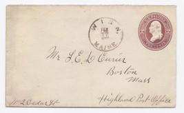 1888 Winn ME Vintage /Roxbury Sta MA DPO Postal... - $9.95