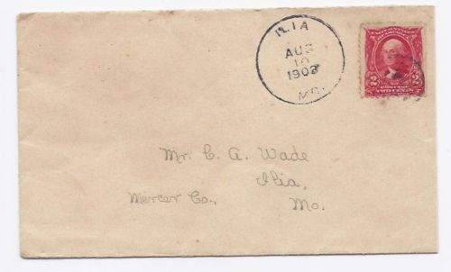 Primary image for 1903 Llia MO Discontinued/Defunct (DPO) Postal Cover