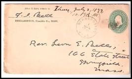 1897 Bernardston MA Vintage Postal Cover  - $9.95