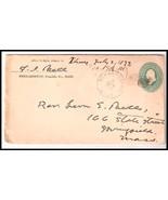 1897 Bernardston MA Vintage Postal Cover  - $12.94 CAD