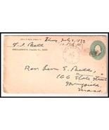 1897 Bernardston MA Vintage Postal Cover  - $187,42 MXN