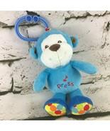Babies R Us Blue Monkey Musical Plush Hanging Carseat Or Crib Toy  - $19.79