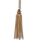 Vintage Gold Tone Tassel Chain Necklace - $15.00