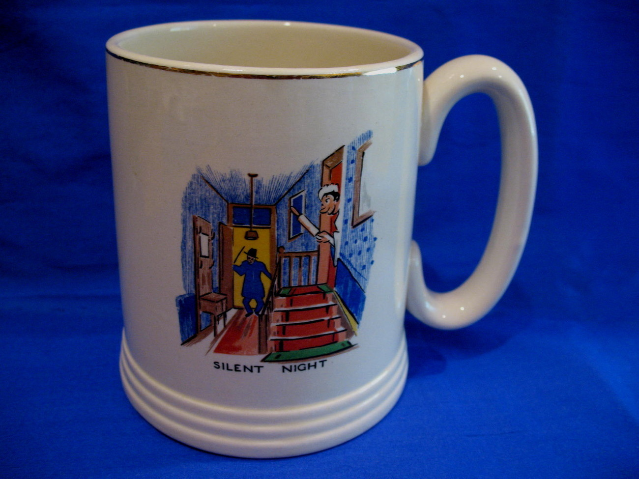 Primary image for Lord Nelson Ware Silent Night Coffee Mug Tea Cup Vintage Beer Stein Collectible