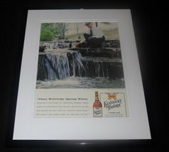 1958 Kentucky Tavern Whiskey Framed ORIGINAL Advertisement Frank Thompson - $46.39