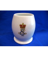 King Edward VII Coronation Coffee Mug Tea Cup 1902 Souvenir Antique Holo... - $14.95